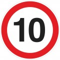 """Предупреждающий автомобильный знак """"Ограничение скорости"""" d500мм. Композит."""