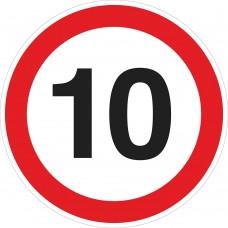 """Предупреждающий зна к""""Ограничение скорости""""м. Композит."""